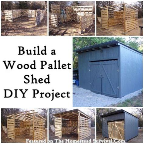 Build A Shed Diy by Build A Size Shed Made From Pallets Usefuldiy