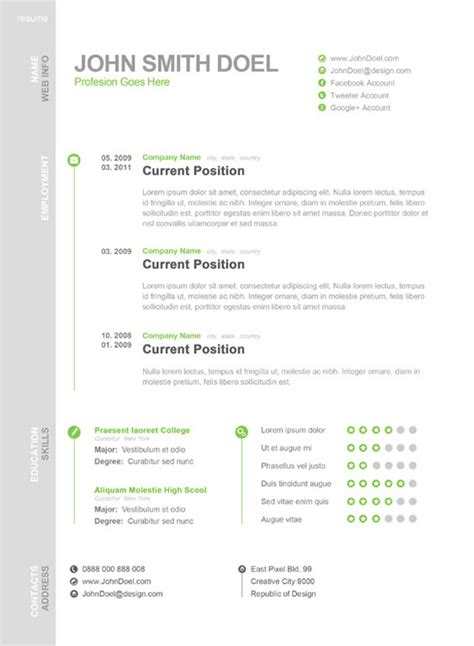 Plantilla De Curriculum Vitae Office Cinco Claves Para Tener Un Cv En Papel Presentable