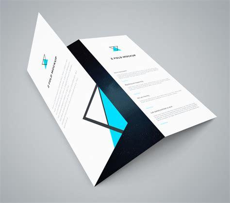 Three Fold Paper - 17 folded paper mockup psd design trends