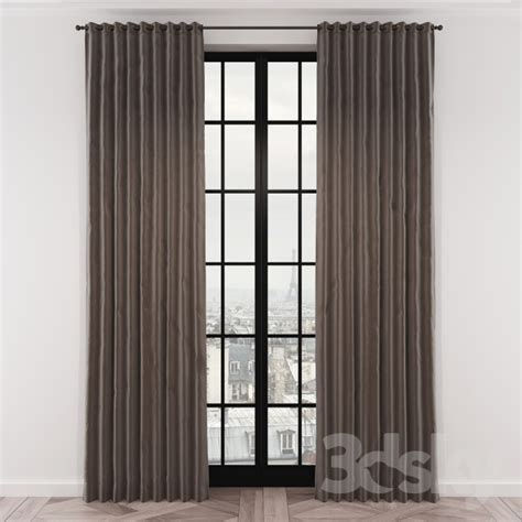 Buy Curtains 3d Models Curtain Curtains Rh Brushed Cotton Twill Drapery