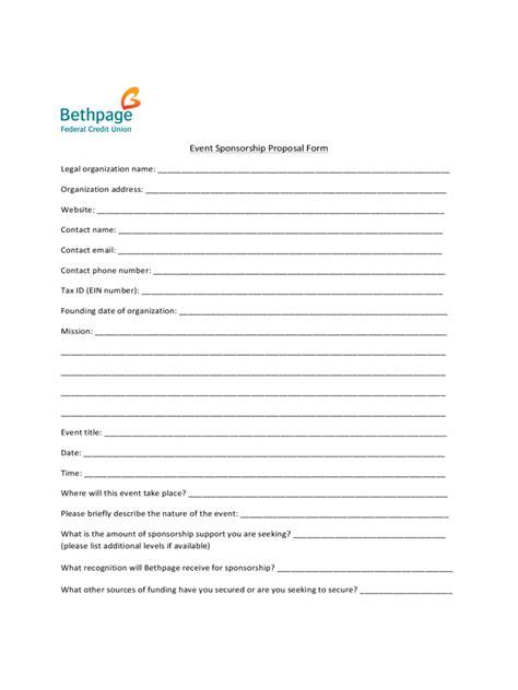 event sponsorship exle sponsorship template 6 free templates in pdf