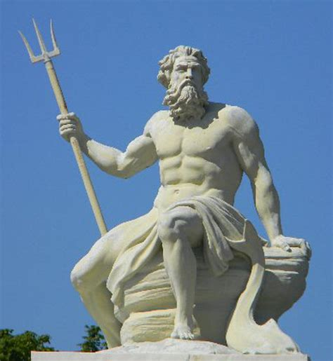greek mythology statues poseidon greek god statue