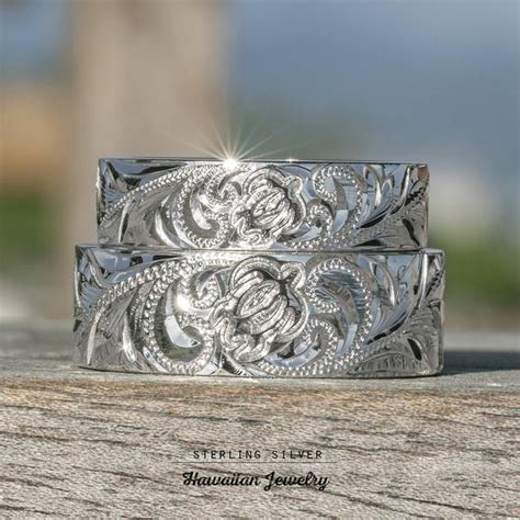 Sterling Silver Turtle Honu Ring sterling silver hawaiian jewelry ring with sea turtle