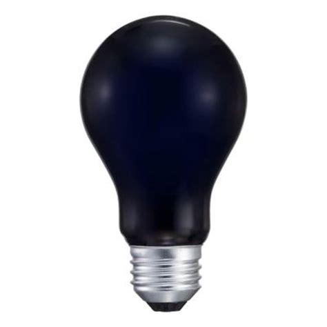 philips 75 watt incandescent a19 black light bulb 415323
