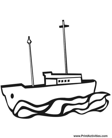 Coloring Pages Of Fishing Boats by Fishing Boat Coloring Page Cartoonish Fishing Boat