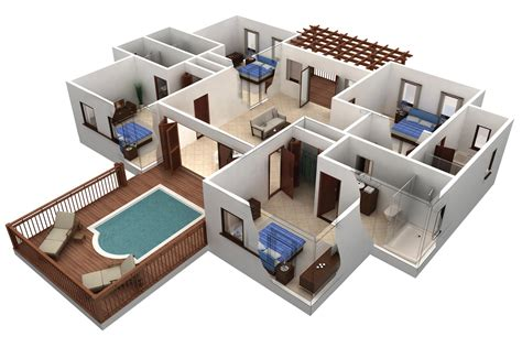 Home Design Delectable 3d House Plans And Design 3d House House Plans With 3d Interior Images