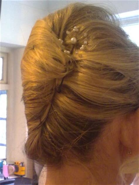 large hair pleats wedding hairstyle french pleat freshwater pearl hair pin