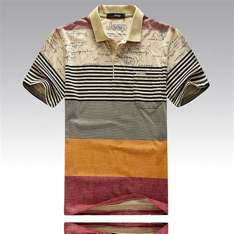 Printed Cotton T Shirts For Branded Corporate And Promotional Gifts In Lagos Nigeria by Fashion Striped Print Polo Shirts Cotton Business Casual Tops Shirt Brand