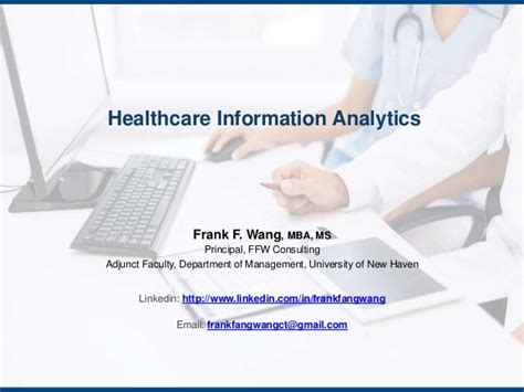 Information Management And Analytics Mba by Healthcare Information Analytics