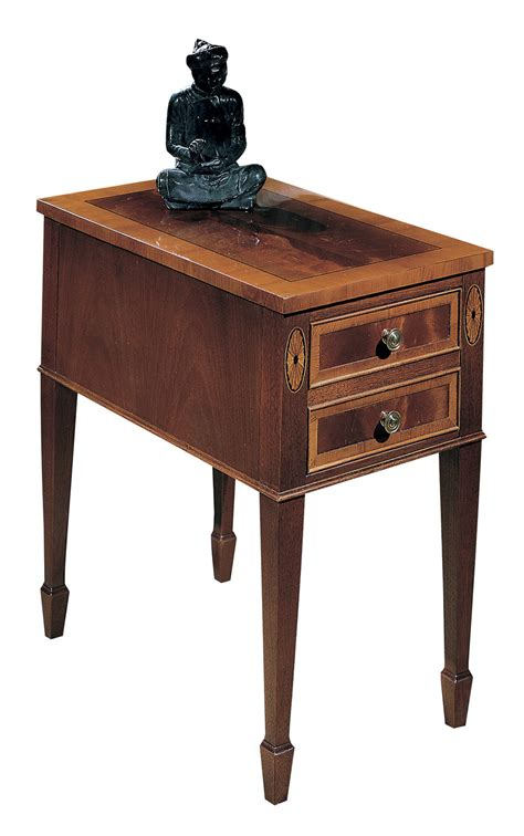 small accent table with drawer small mahogany chair side tables classic wood two drawer