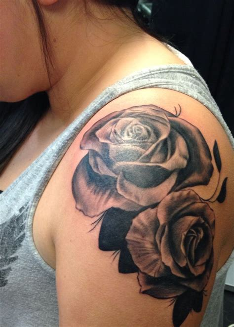 rose tattoo designs for shoulder best 25 shoulder tattoos ideas on