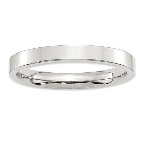 sterling silver comfort fit wedding bands ladies 3 0mm flat comfort fit wedding band in sterling