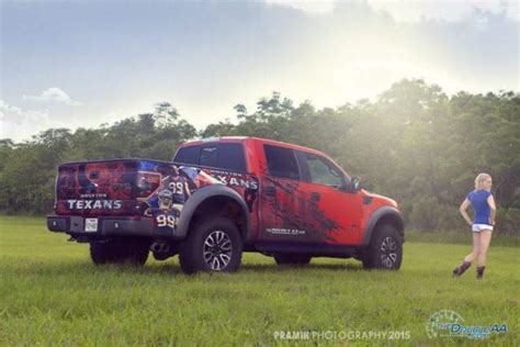 2014 Ford Raptor Houston Texans custom edition fully loaded