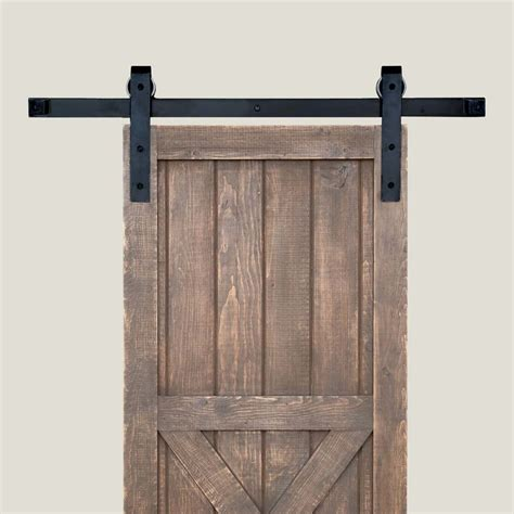 Barn Door Tracker Kit Acorn Manufacturing Basic Barn Door Rolling Hardware 8 Track Smooth Iron Bh1bi 8