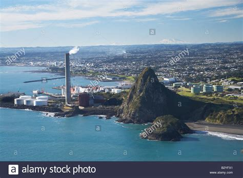 new plymouth new plymouth power station and paritutu taranaki with