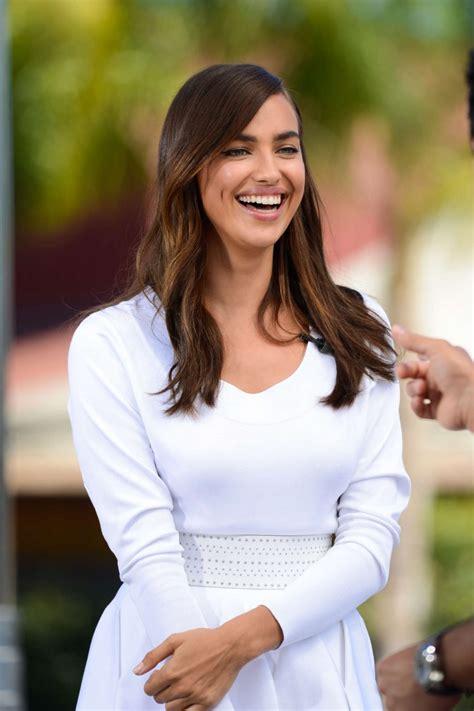 Irina Set Jersey irina shayk in white dress on set 33 gotceleb
