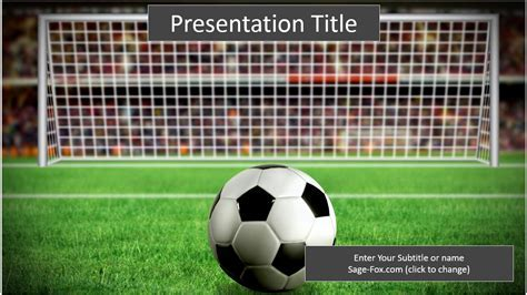 Football Powerpoint Template Free Free Powerpoint Presentation