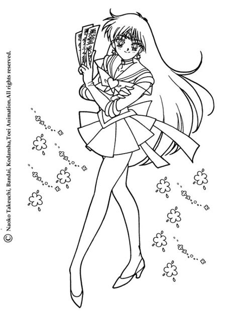 Sailor Mars Coloring Pages sailor mars coloring pages hellokids