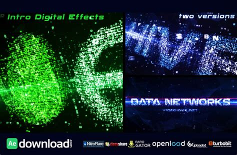 after effects free intro template project file download data networks intro videohive template after effects