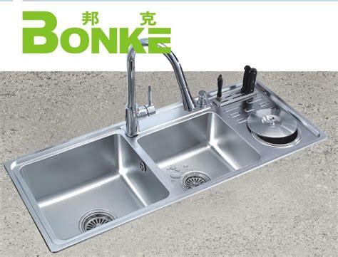 with garbage bin stainless steel kitchen sink china