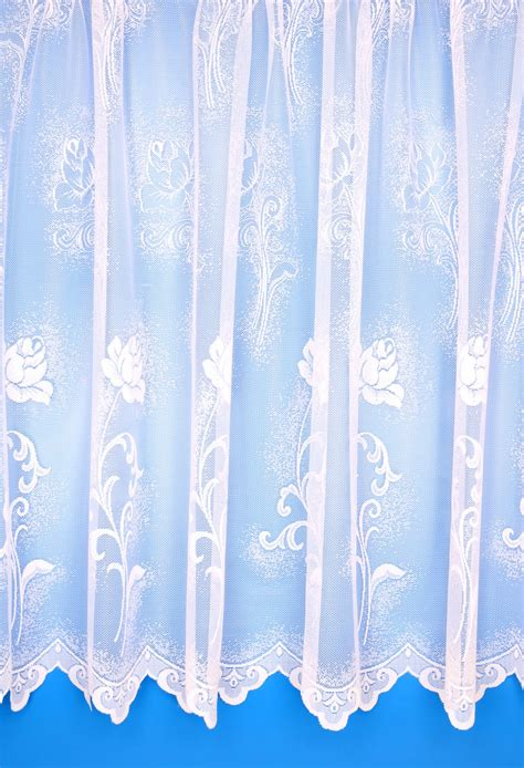 net drapes rose white floral net curtains woodyatt curtains