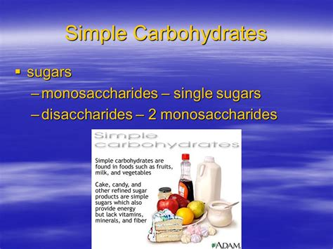 4 simple carbohydrates carbohydrates ppt