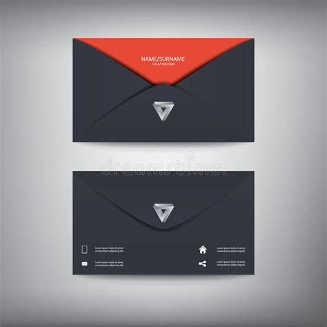business cards shapes templates modern creative business card template in envelope stock