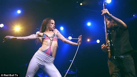 Juliette The Licks Kicked by Juliette Lewis Rocks Evel Knievel Inspired Jumpsuit At