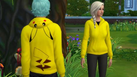 game mod jacket mod the sims pikachu hoodie for male and female
