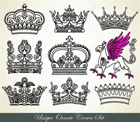crown tattoos tattooed images