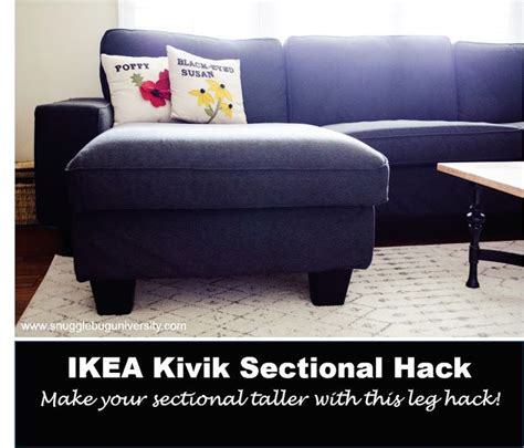 how to make your bed taller make your ikea kivik sectional taller add legs includes