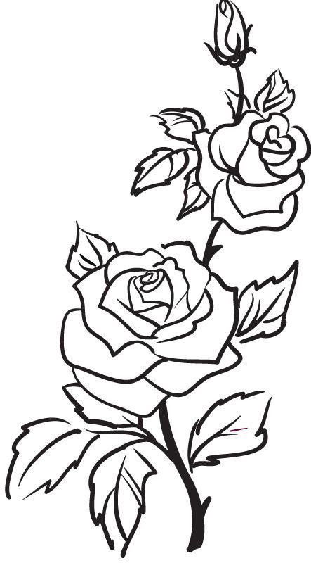 Wall Stickers Flowers best 25 rose outline ideas on pinterest simple rose