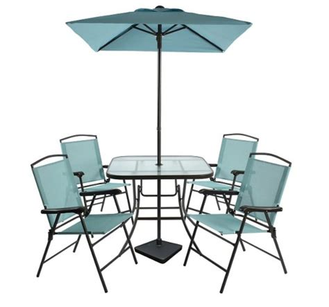 folding patio dining set threshold 7pc metal folding patio dining set at ben