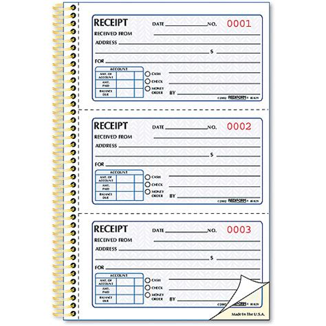 free walmart receipt template rediform money receipt book 225 sets book walmart