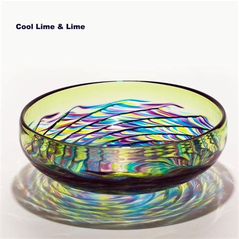 glass bowl centerpieces optic rib bowl by micheal trimpol