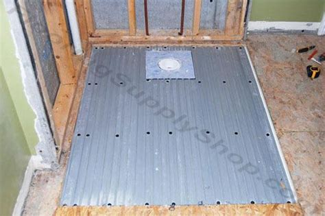 Curbless Shower Construction by Clearpath Curbless Shower Pan System Complete Floor Kit