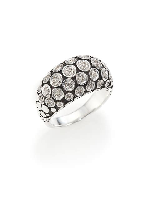 hardy dot sterling silver dome ring in