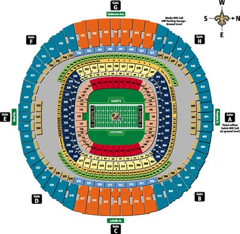 saints superdome seating map superdome history photos more of the site of