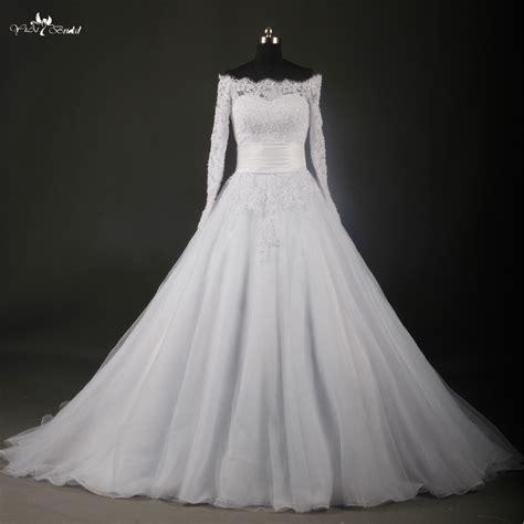 Bateau Wedding Dress by Rsw737 Boat Neck Sleeve Lace Wedding Dresses Bateau