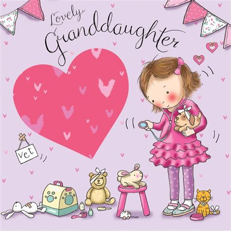 Granddaughter Birthday Card Granddaughter Birthday Card Dressing Up Tw642