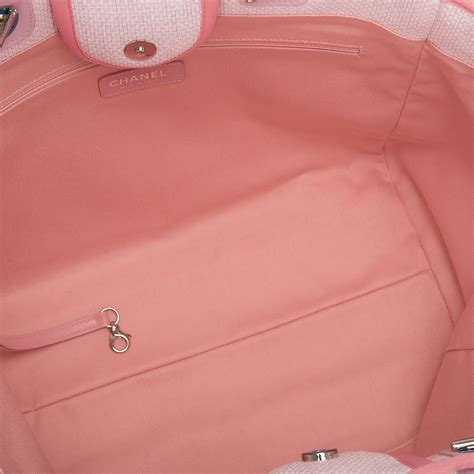 Deauville Shopper Tote Bags Printed chanel pink canvas large deauville shopping tote world s best