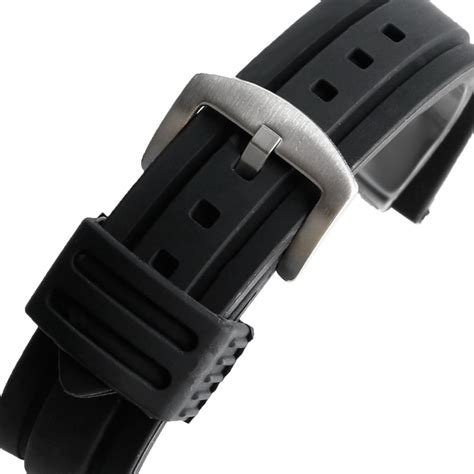 A 26 Rubber 1 20mm 22mm 24mm 26mm 28mm wrist band army black silicone rubber replacement