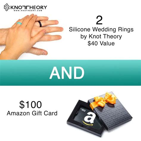 Amazon Damaged Gift Card - knot theory silicone wedding rings 100 amazon gc giveaway