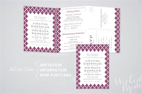 wedding invitations all in one best all in one wedding invitations ideas egreeting ecards