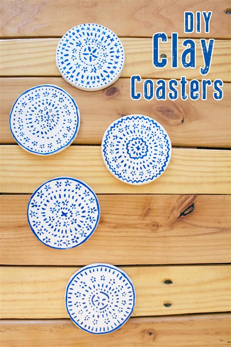 How To Make Coasters Out Of Tiles And Scrapbook Paper - diy clay coasters kept