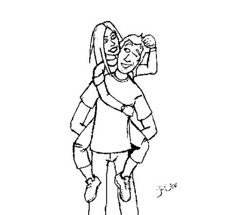 imagenes para dibujar de parejas dibujo de pareja de enamorados 3a para colorear dibujos net