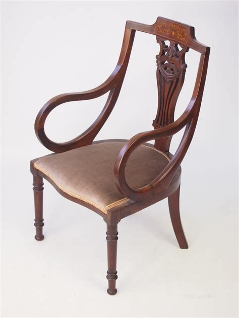 armchair antiques small edwardian mahogany inlaid armchair antiques atlas
