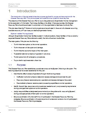 disaster recovery plan checklist template disaster recovery plan template ms word excel