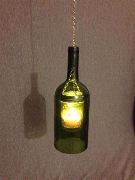 bing wine bottle crafts with lights j shower pinterest