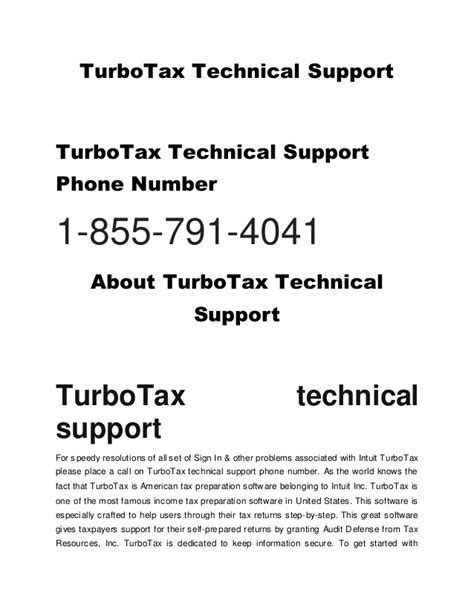 phone number to turbotax 1 855 486 4229 turbotax technical support phone number usa